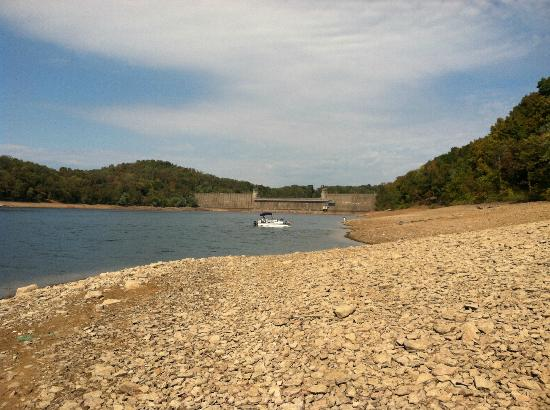 Tygart Lake State Park View Of The Dam And Water Level Lowered For