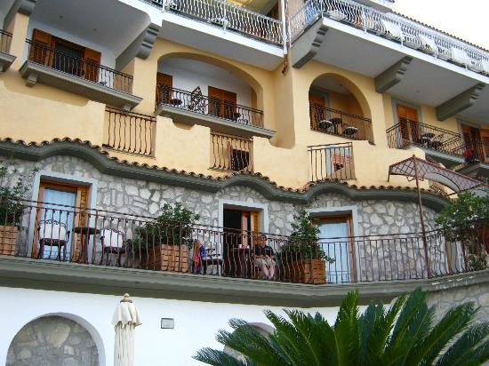 All rooms have balcony which face vesuvius as it s built into the