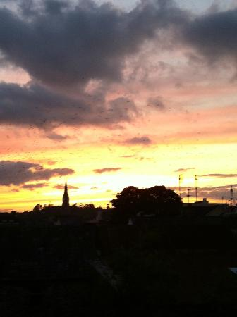 The Fairview: Sunset from my room's balcony
