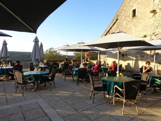 La Dent Creuse : view of the terrace