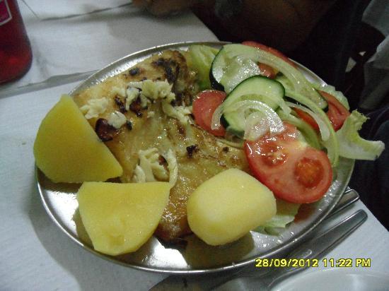 Restaurante Tronco: bacalau con verdure