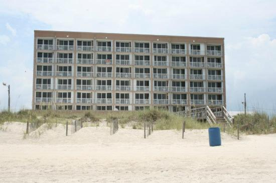 Golden Sands: View from the beach, of the hotel.