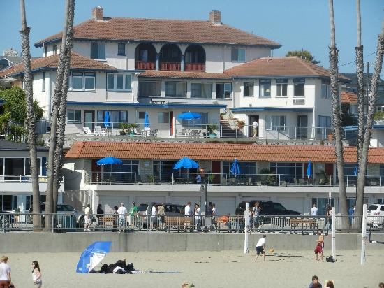 Casablanca Inn on the Beach: Taken from the Pier