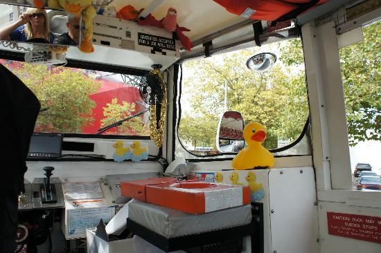 Ride the Ducks of Seattle: inside the bus/boat