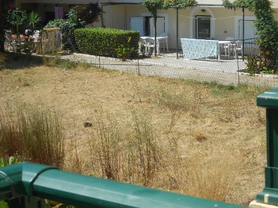 Stefania Studios: Beautiful landscaped garden next to the apartments..NOT..such a nice view from..NOT