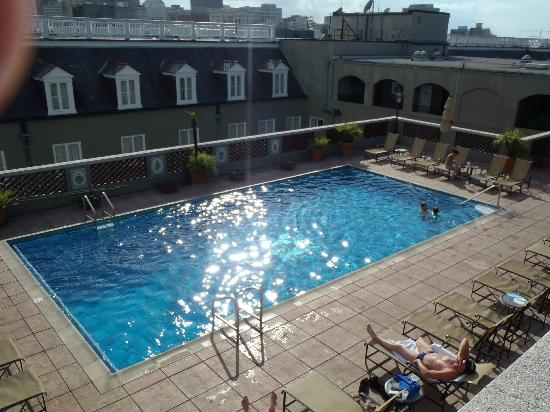 Omni Royal Orleans: View of pool from observation deck