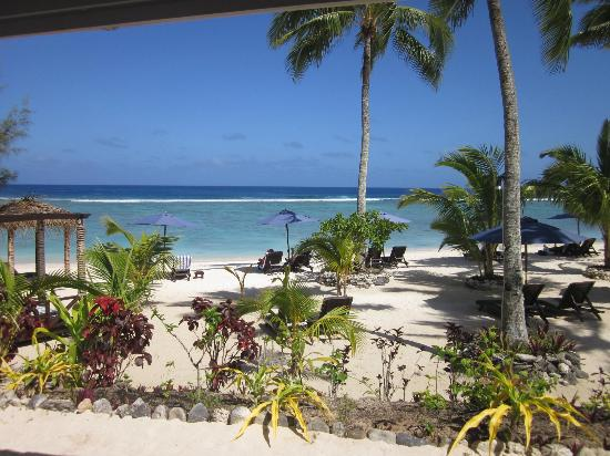 Manuia Beach Resort: The view from our room