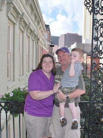 Bienville House: The bellman took a family shot for us on our balcony! Great view