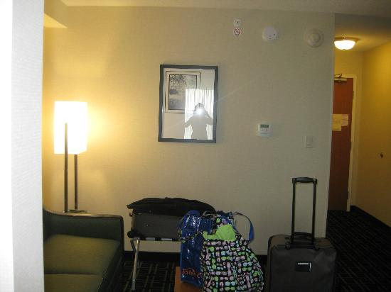 Fairfield Inn & Suites Toronto Mississauga: looking from bedroom into sitting area