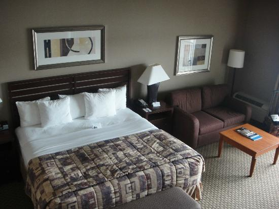 Executive Inn & Suites: Comfortable bed and pillows of all sorts
