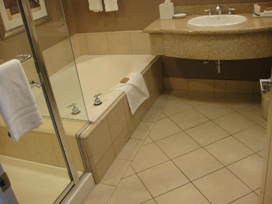 Executive Inn & Suites: separate shower and tub