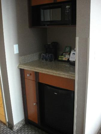 Executive Inn & Suites: Microwave and Refrigerator