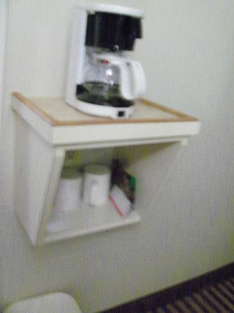 Clarion Inn: coffee pot and items for coffee