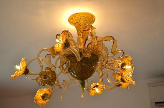 Ca dei Polo: One of the Murano chandeliers