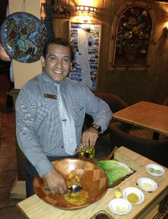 El Potrero Carnes: Delicious Caesar Salad made at table