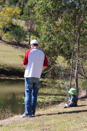 Amamoor Homestead: Fishing at the Dam
