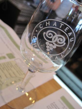 Chateau Chantal Winery & Tasting Room: Wine glass