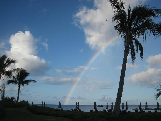 Four Seasons Resort Nevis, West Indies: Rainbow, 1st morning early in the morning.