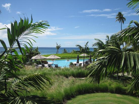 Four Seasons Resort Nevis, West Indies: View from our room, 2nd floor in building 10