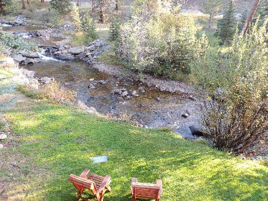 Boulder Brook on Fall River: view from our balcony (unit #9)