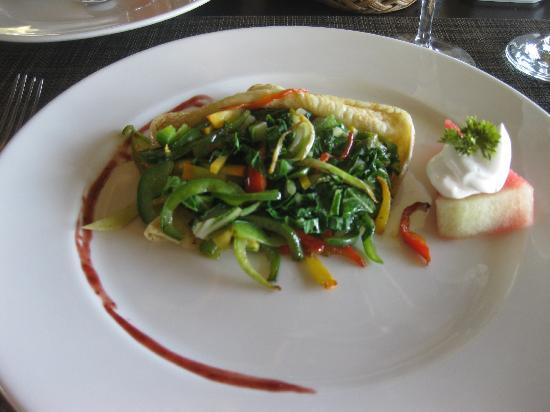 Zoetry Agua Punta Cana: Vegetable crepes....delicious. And healthy.