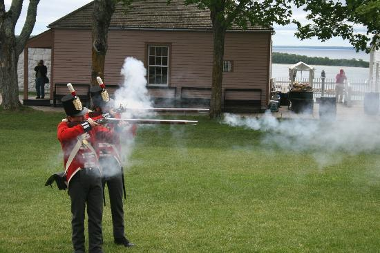 Firing the Muskets at Fort Mackinac