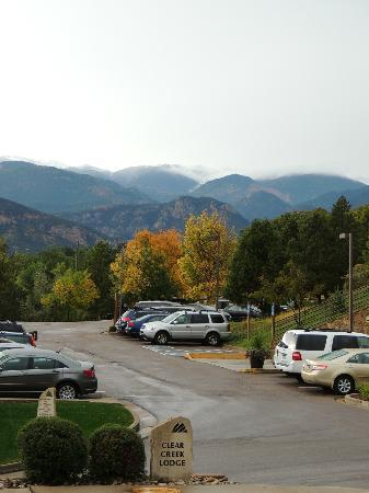 Cheyenne Mountain Resort: view from parking area