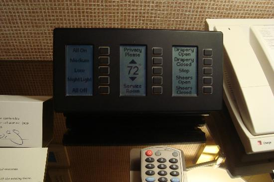Wynn Las Vegas: control pad for lights, drapes