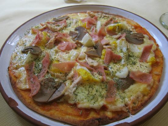 Hot Springs Restaurant and Pizzeria: House pizza (not bad!)