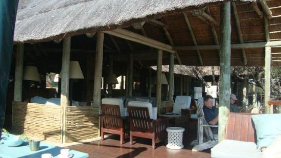 Thornybush Game Lodge: Open lounge