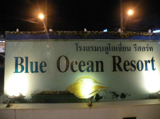 Blue Ocean Resort: SIgn board outside