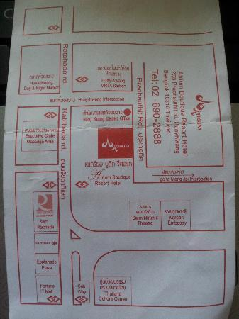 Atrium Boutique Resort Hotel: Hotel Map
