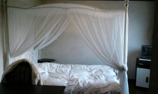 Yumekobo Hananomai: 天蓋ベッドの部屋