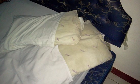 Hotel Mustika : Pillows. Dirty, itchy and smelly