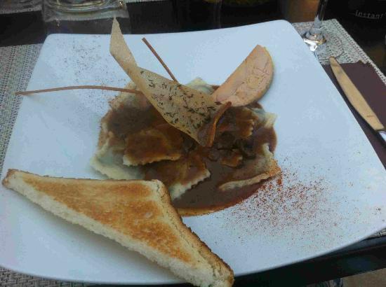 Restaurant Cote Place: Raviolis au foie gras