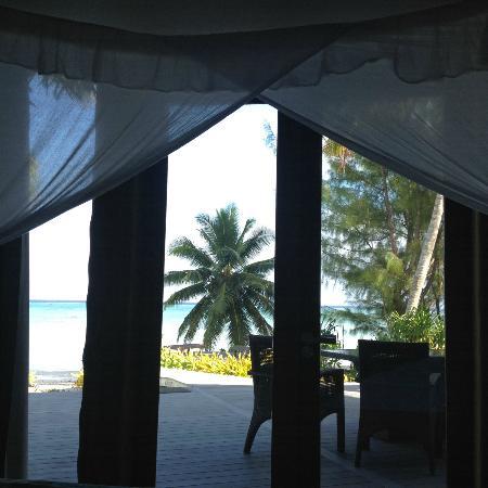 Aitutaki Escape: View from the master bedroom