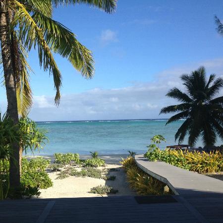 Aitutaki Escape: View from the deck!