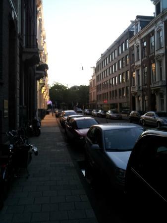 Hotel Cornelisz: street in front of hotel looking towards Rijksmuseum