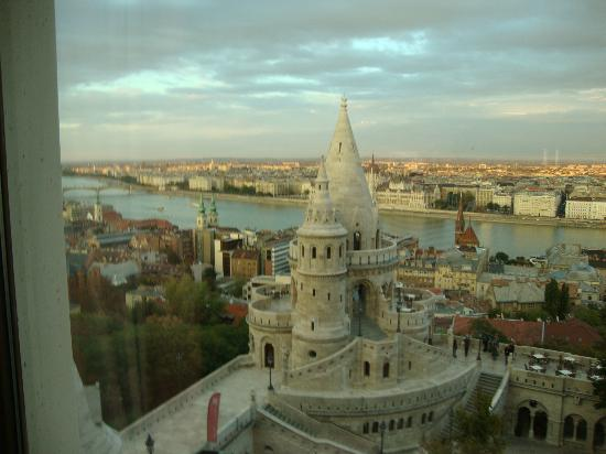Hilton Budapest: This is the view from my room