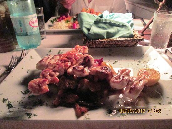 Korsan Fish Restaurant : Piatto di calamari