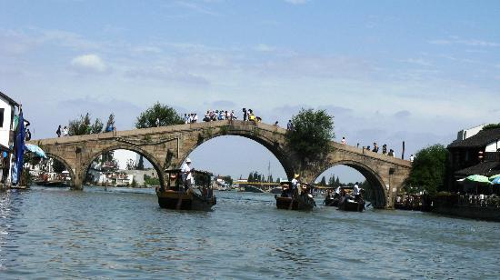 Zhujiajiao Ancient Town: The famous Fangsheng bridge