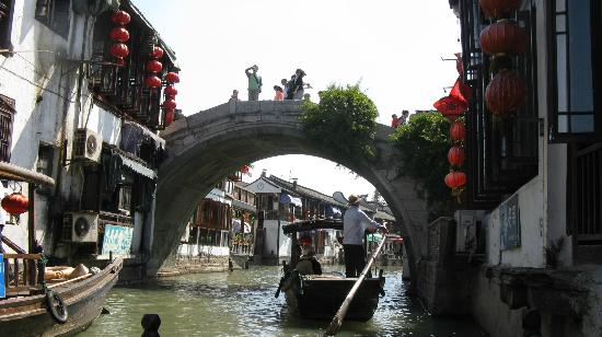 Zhujiajiao Ancient Town: view from gondola