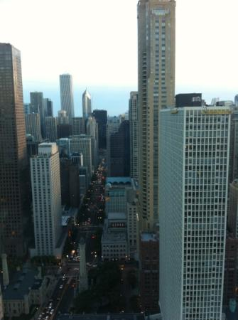 Four Seasons Hotel Chicago: view from City view room.