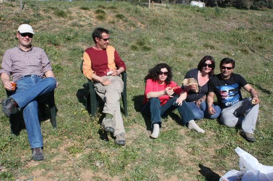 Camping Ribera del Chanza: Fotos en familia, tranquilamente tomando el sol