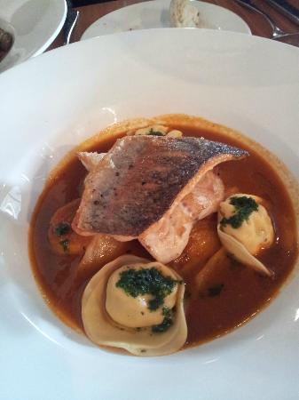 Trout bouillabaisse w/- yabbie & eel ravioli