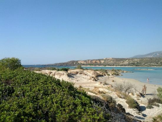 Elafonissi  Beach: Top hill view