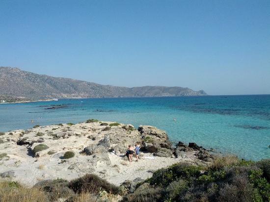 Strand von Elafonissi: Colors