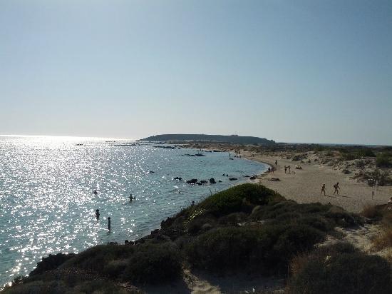 Strand von Elafonissi: Top hill