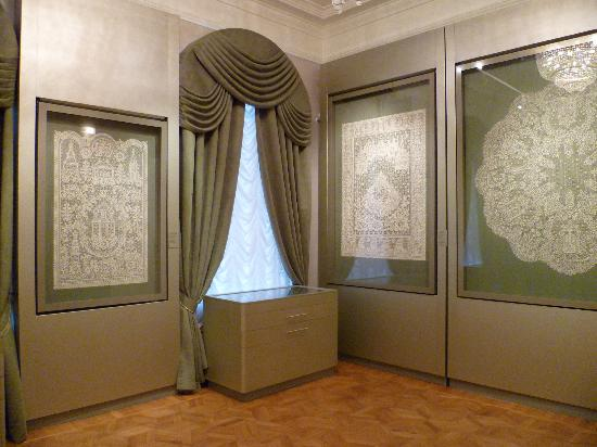 Vologda, รัสเซีย: Museum hall devoted to modern lace