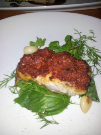 Sea Fire Salt.Sky: A picture of one of the main course (fish)